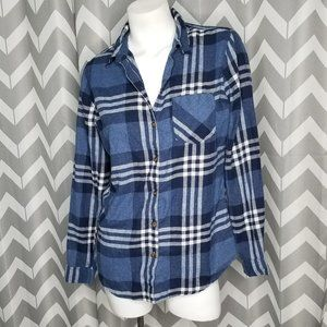 🔴FIELD & STREAM blue and white flannel
